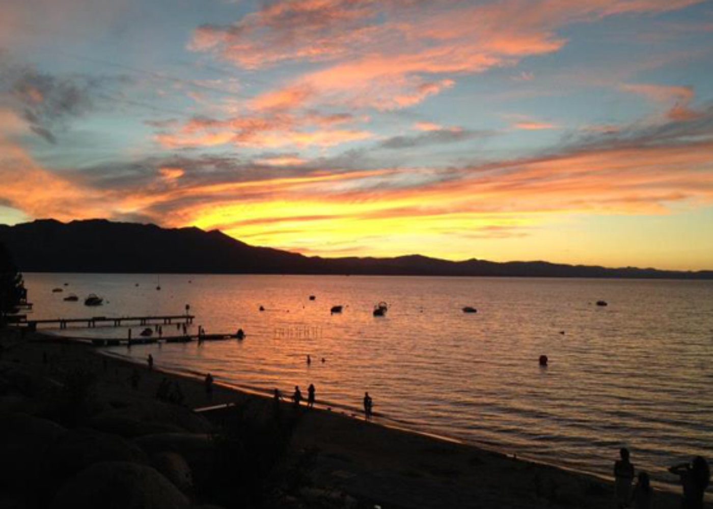 Sunset in Lake Tahoe